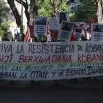 Marcha contra Turquía en solidaridad con los kurdos de Kobani