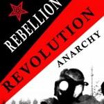 شعارها ی آنارشیستی به ترکی , انگلیسی و فارسی