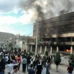 خشم مردم مهاباد علیه حکومت متجاوز و آدمکش حکومت اسلامی ایران!