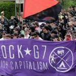 تظاهرات چپ های رادیکال و آنارشیستها علیه اجلاس G7 در آلمان