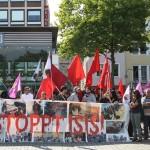 فراخوان تظاهرات ۸ آگوست در کلن و عکس و گزارشی از تظاهرات ۱ اگوست در کلن علیه جنگطلبی دولت ترکیه