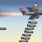 تا کنون تنها سه حملۀ هوایی علیه مواضع داعش در شمال سوریه توسط جنگنده های ترکیه صورت گرفته است