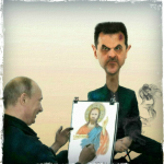 کارتون : نقاشی پوتین از بشار اسد
