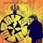 کاریکاتور : گردونه انتخابات آزاد رژیم اسلامی