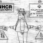 کاریکاتور : پناهنده از نوع ایرانی