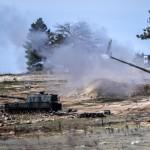 هدف قرار دادن مواضع چریکهای کرد «یپگ» توسط توپخانه ترکیه در روز ۳ شنبه برای چهارمین روز متوالی
