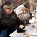 بی خانمان های مسکو از فرط سرما به تونل های فاضلاب پناه بردند