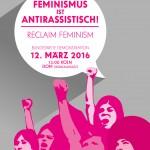 فراخوان به گردهمایی بلوک *زنان لزب ترانس و فراجنسیتی در تظاهرات ۱۲ مارس سال ۲۰۱۶