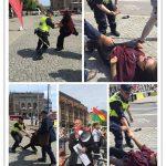 گزارش زنده و ویدئو از تظاهرات اعتراضی بر علیه حضور ظریف و همراهانش در سوئد