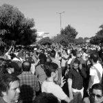 عکس ها و گزارش هایی از برگزاری شانزدهمین مراسم سالگرد درگذشت احمد شاملو پشت درهای بسته امام زاده طاهر
