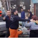 ویدئو و عکس سیلی خوردن یک زن دست فروش توسط مامور شهرداری در فومن و به یاد محمد بو عزیزی و علی چراغی