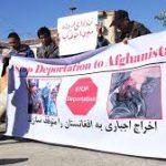 در فرودگاه فرانکفورت، صدها نفر در برابر اخراج ۳۴ افغانستانی به کشور خود تظاهرات کردند