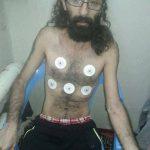عکس تکان دهنده سعید شیرزاد فریاد مرگ خاموش یک زندانی است.  Iranian political prisoners on hunger strike