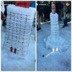 برگزاری جشن آدم برفی در سنندج به یاد پیکر پاره پاره صمد و احد دو کودک قربانی کار