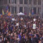 تظاهرات ده ها هزار اسپانیایی در دفاع از حقوق پناهجویان