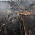 آتش سوزی وسیع در محله زاغه نشین و فقیر مانیل پایتخت فیلیپین ۱۵۰۰۰ نفر را بیخانمان کرد
