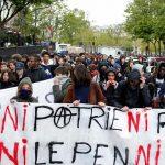 تظاهرات جوانان آنارشیست فرانسوی: نه میهن، نه رئیس؛ نه لوپن، نه ماکرون + عکس و ویدئو