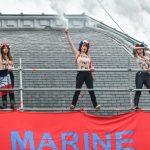 پیروزی امانوئل ماکرون و اعتراض فمنها به مارین لوپن در روز انتخابات فرانسه + عکس