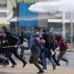 تظاهرات هزاران دانشجو و دانش آموز آنارشیست در شیلی