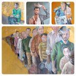 نقاشی های عبدالله العمر پناهنده سوری : اگر سیاست مداران مهاجران امروز بودند!