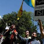 فیلم: ضرب و شتم وحشیانه معترضان کُرد همچون سال گذشته توسط محافظان اردوغان در واشنگتن