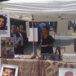 سخنرانی در آکسیون حمایت از اعتصاب غذای زندانیان سیاسی