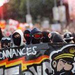 ۲ ویدئو از حضور گسترده آنارشیستها در اعتصاب و تظاهرات سراسری فرانسه علیه تغییرات اصلاحی قانون کار