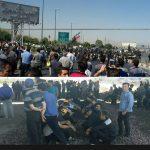 تجمع همزمان کارگران آذر آب و هپکو در شهر اراک + عکس و ویدئو