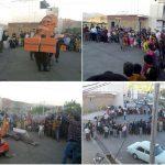 ویدئو و عکس امروز شنبه از حضور خیابانی مردم سردشت و تئاتر خیابانی در شهر بردره شه مریوان در همبستگی با #کولبران و بانه