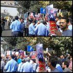 عکسهای تجمع امروز در حمایت از رضا شهابی