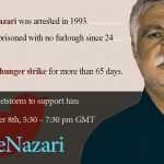 Iran : Mohammad Nazari، political prisoner on the seventy day of his hunger strike After 24 Years Imprisonment