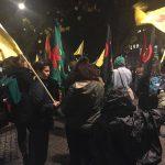 چند ویدئو و تصویر از تظاهرات استکهلم در روز کوبانی ۱ نوامبر