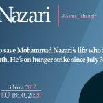 طوفان توئیتری؛ اقدام فوری برای نجات جان محمد نظری روز جمعه۱۲ آبان #FreeNazari