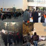 عکس و فیلم تجمع اعتراضی دانشجویان دانشگاه تهران، علامه، خوارزمی ، بهشتی ،ملی و فارغ التحصیلان دانشگاه صنعت نفت به مناسبت #روزدانشجو
