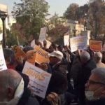 ویدئو مالباختگان خشمگین با شعار مرگ بر روحانی مقابل دادستانی و ویدئو سرکوب مالباختگان