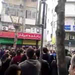 فیلم تظاهرات مردم در رشت