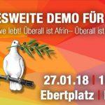 Bundesweite Demo für Afrin am Samstag in Köln