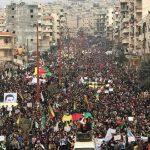 مصاحبه با آرش نظامی خبرنگار تلویزیون آرین در باره تظاهرات در#عفرین