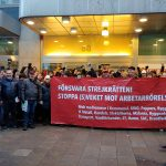 بیانیه ی ۱۱۶ تن از نمایندگان و فعالین کارگری در سوئد، برعلیه پیشنهاد لایحه قانونی مربوط به ممنوعیت اقدامات مقابله جویانه و مُبارزاتی سندیکاهای آزاد کارگری