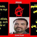 SOHAIL ARABI, PRISONNIER ANARCHOSYNDICALISTE IRANIEN, ENTAME UNE GREVE DE LA FAIM ET ECRIT AUX UNIVERSITAIRES DE GAUCHE