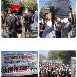عکسهایی از تظاهرات هزاران آنارشیست با حضور هم قطاران اتحادیه آنارشیستهای ایران و افغانستان در آتن