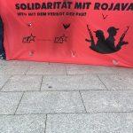 عکس های تظاهرات صدها نفر در عصر جمعه بر علیه تجاوز و لشگرکشی اردوغان به روژاوا در شهر کلن