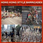 نمط المتاریس من قبل الثوار فی هونغ کونغ