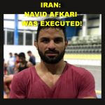 THE MESSAGE WAS SHORT: NAVID AFKARI WAS EXECUTED EARLY IN THIS MORNING