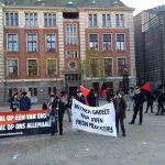 تجمع اعتراضی در همبستگی با آنارشیست انقلابی آبتین پارسا در آمستردام هلند + English translation